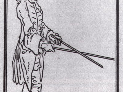 a blind man and his cane according to Descartes
