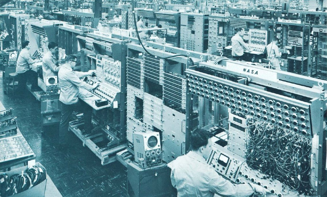 The manufacturing of EAI analog computers at the end of the 1950's.