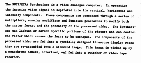quote from the manual of the Rutt-Etra video processor.