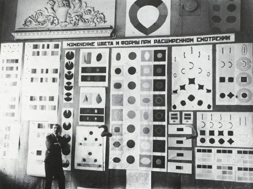 Exhibtion of Michail Matiushin's research into 'Extended Vision', 1930.