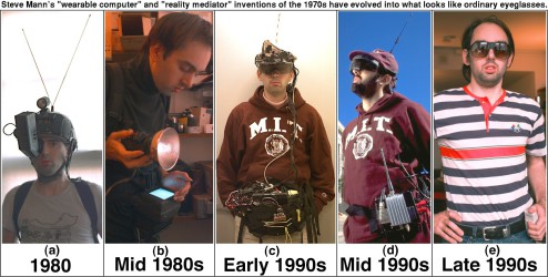 The evolution of wearable computing pioneer Steve Mann.