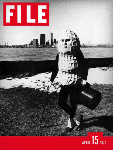 "cover of the first ""File"" magazine (1972), by General Idea."